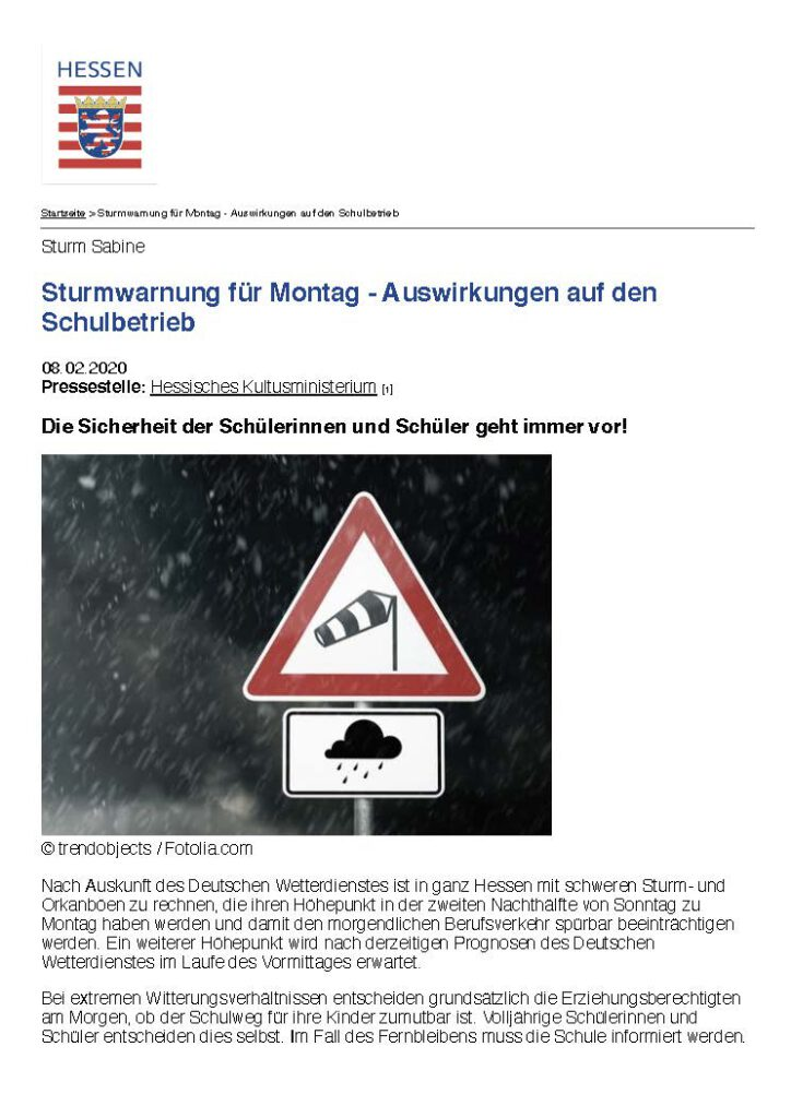 Sturmwarnung Für Montag